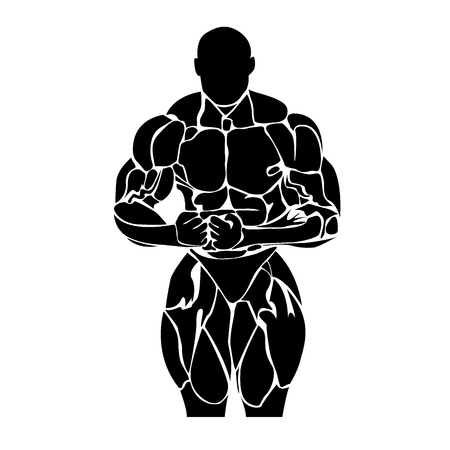 Bodybuilding, Powerlifting, vector
