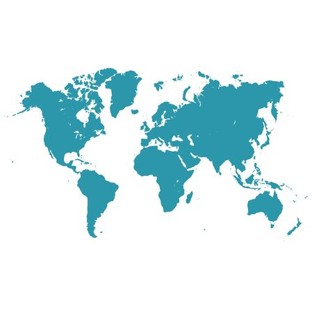 oceania: world map, vector illustration in flat design for web sites, Infographic design.