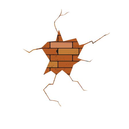 crack: vector, crack, brick wall