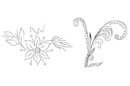 crocket: Floral vector elements