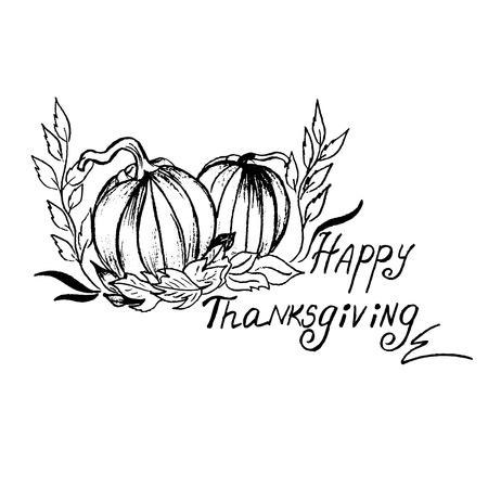 sketch: Thanksgiving sketch Illustration
