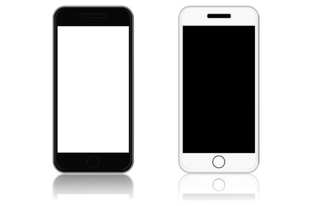 Modern touch screen phones, vector illustration Stock fotó - 54951411