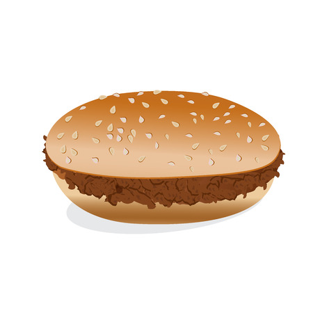 hamburger, plain, vector