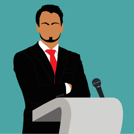vector illustration of presentation concept in flat style