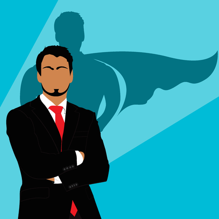 shadow: Businessman, superman, shadow, vector