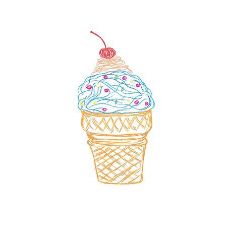 ice cream, sketch style