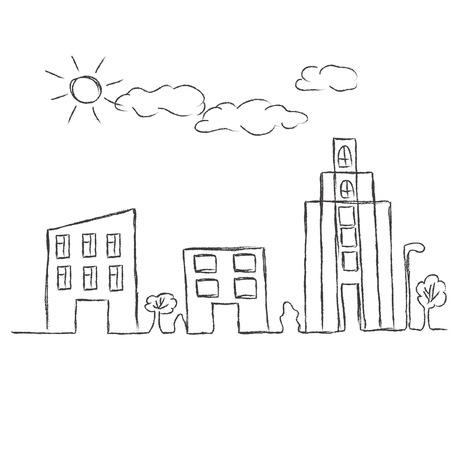 sketch: city sketch Illustration