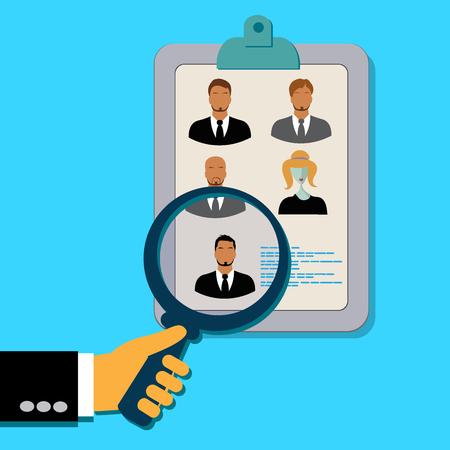 Analyzing, applicants, resume, illustration, concept Illustration