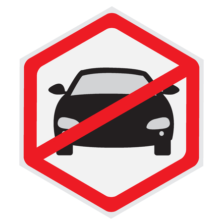 cars parking: No, cars, parking, allowed, sign, vector, illustration, hexagon