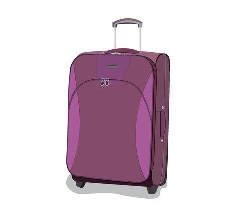 travel, bag, luggage, flat, vector