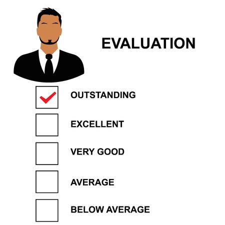 evaluatieformulier, vector illustratie