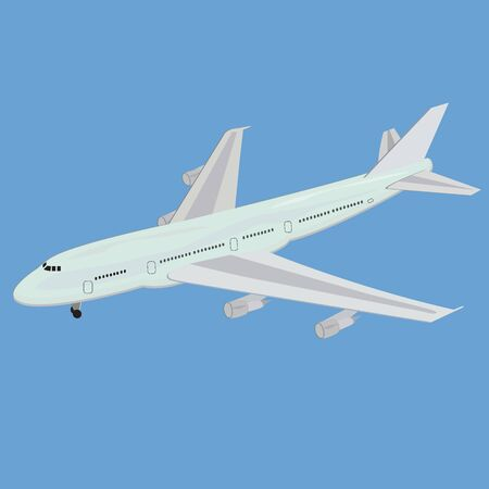 fuselage: Realistic, illustration, airplane, vector, illustration