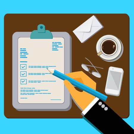 customer, feedback, concept, flat design vector illustration