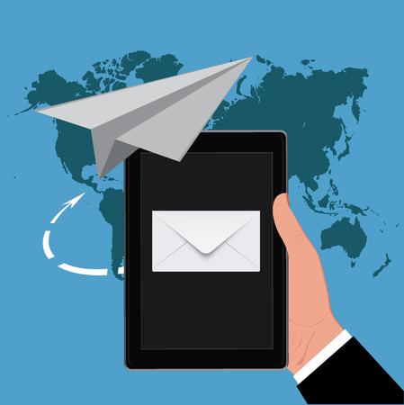 Email marketing concept, vector illustration Illustration