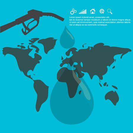 gallons: oil concept, vector, illustration Illustration
