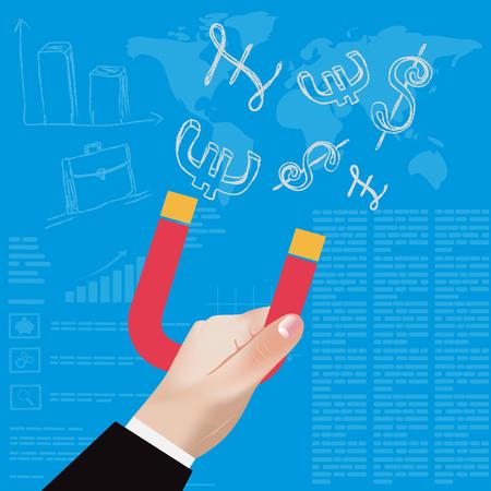 Modern business concepts,vector, illustration Ilustração