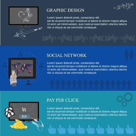 per: graphic design, social, pay per click, vector, illustration