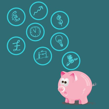 personal finance: Personal, finance, control, investment, management, vector, illustration