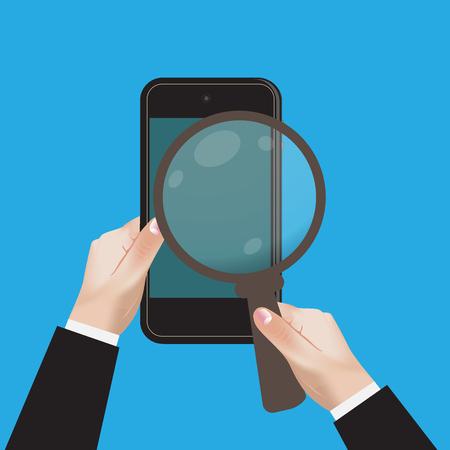 SEO, Web, Analytics, Vector, Illustration, cellphone