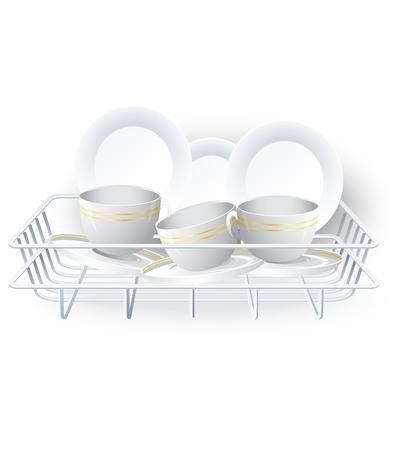 rack: Dishes rack