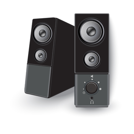 Vector, audio, speakers Ilustração