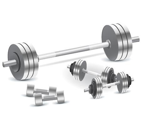 Dumbbells, weights, vector, illustration