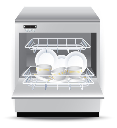 Dishwasher Vektoros illusztráció