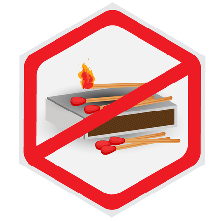 pyromania: No, fires, allowed, matches, symbol