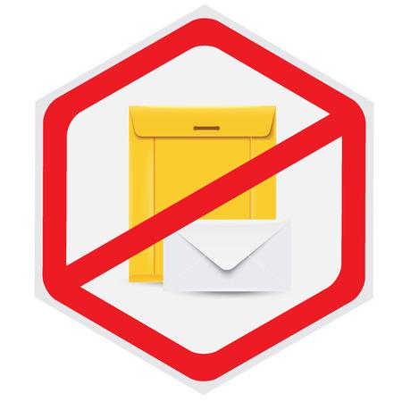 No, mail, sign Ilustração