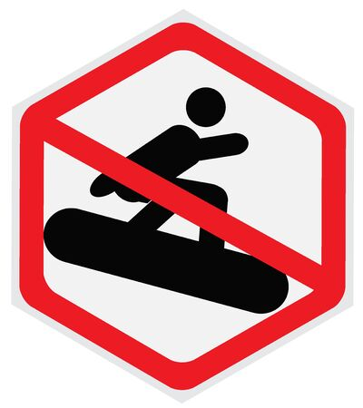 snowboarding: No snowboarding sign