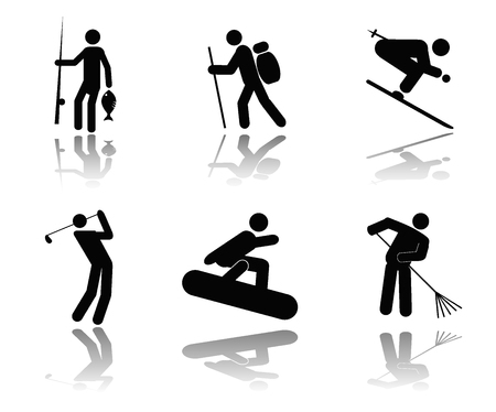 spectator: Collection of icons of people in different situations