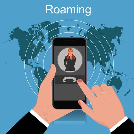 roaming: Roaming concept, vector illustration Illustration