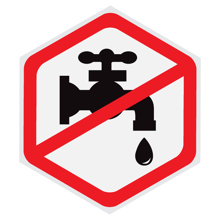 No, water, tap, sign, hexagon