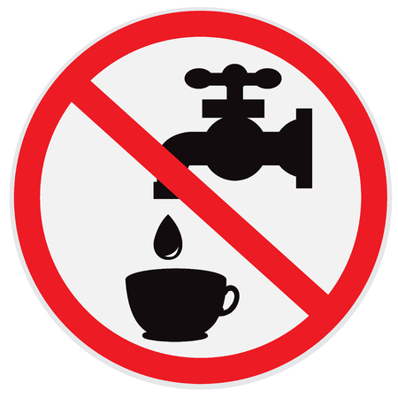 no water: No, water, tap, sign