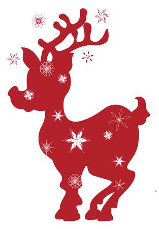 Christmas, deer, vector