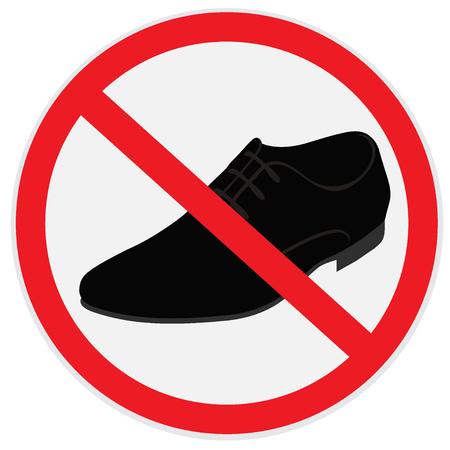 art piece: No, shoes, sign Illustration