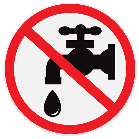 No, water, tap, sign