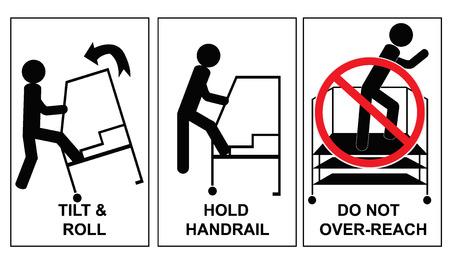 Danger, caution, ladder, sign 向量圖像