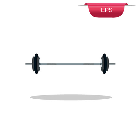 kilos: Heavy barbell, design element, vector illustration