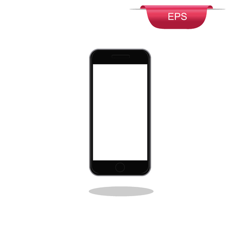 touch: Modern touch screen phone, design element, vector illustration Illustration