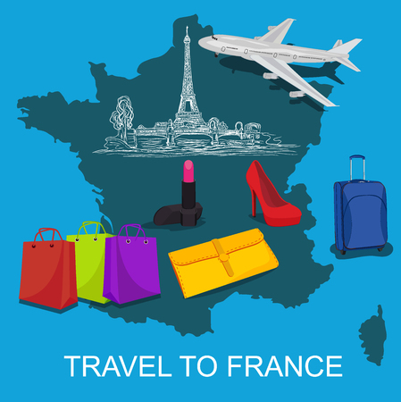 travel to France concept, vector illustration
