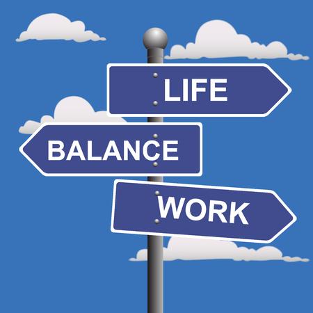 life balance: Work, life, balance, street, signs