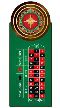 Roulette, wheel, table