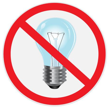 Nein, Licht, Lampe, Zeichen Standard-Bild - 56469860