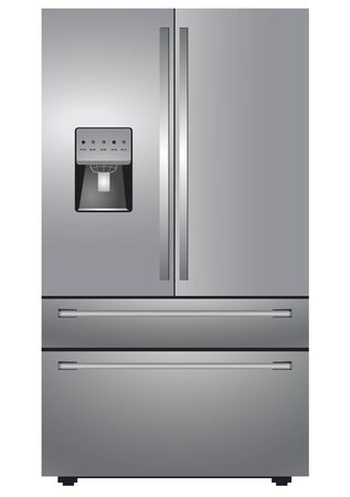 stainless steel: Stainless steel french four door refrigerator