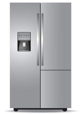 Steel side-by-side refrigerator