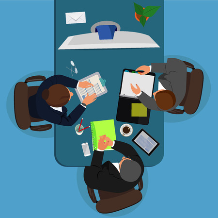 video conference concept, business meeting, vector illustration