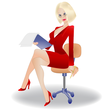 documentation: Secretary, businesswoman Illustration