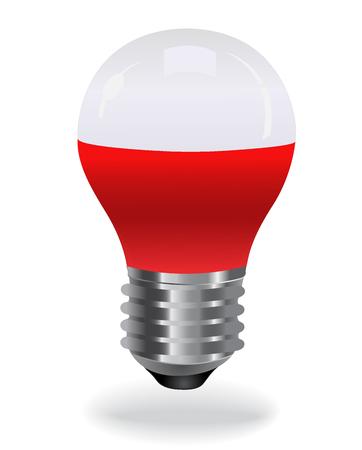 led light bulb: LED light bulb, red