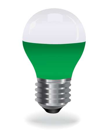 LED light bulb, green
